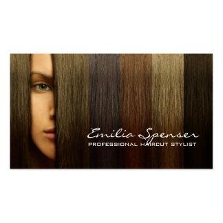 Colorful Woman Hair Haircut Stylist Card Business Card