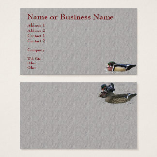 Colorful Wood Duck Business or Profile Card
