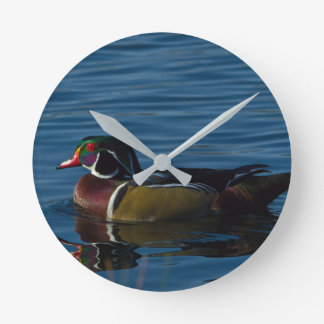 Colorful Wood Duck Wall Clock