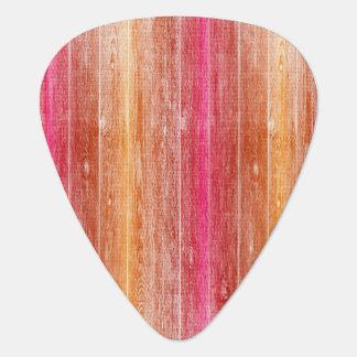 colorful wood wall guitar pick