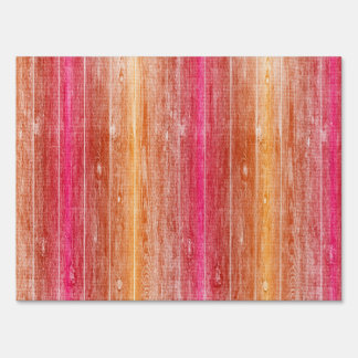 colorful wood wall sign