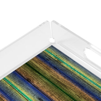 colorful wood wall vintage acrylic tray