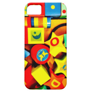 Colorful Wooden Blocks iPhone 5 Case