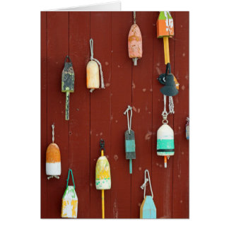 Colorful Wooden Bouys Card