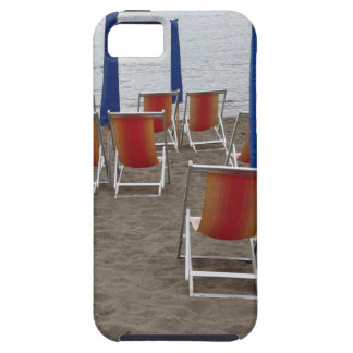 Colorful wooden chairs at sand beach case for the iPhone 5