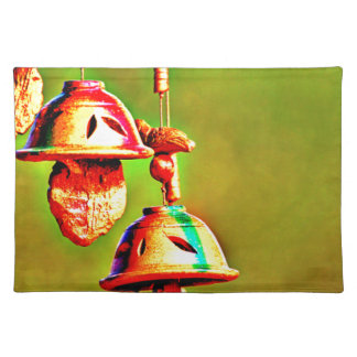 Colorful Wooden Chimes Placemat