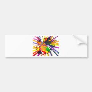 Colorful World Bumper Stickers