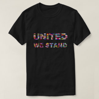 Colorful World Flags United We Stand T-Shirt