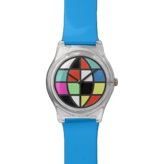 colorful world globe wrist watch