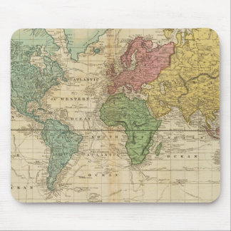 Colorful World Map Mouse Pad