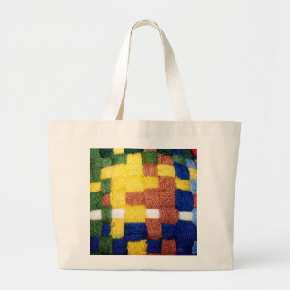 Colorful Woven Pattern Large Tote Bag