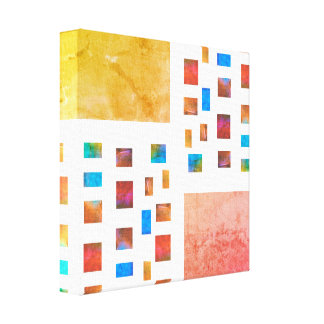 colorful wrapped canvas modern chic abstract art