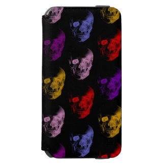 Colorful X-Ray Skulls Pattern Incipio Watson™ iPhone 6 Wallet Case