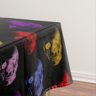 Colorful X-Ray Skulls Pattern Tablecloth