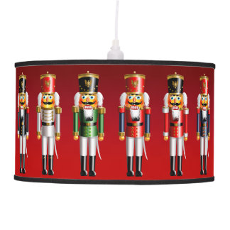 Colorful Xmas Nutcracker Toy Soldiers In Uniforms Pendant Lamp