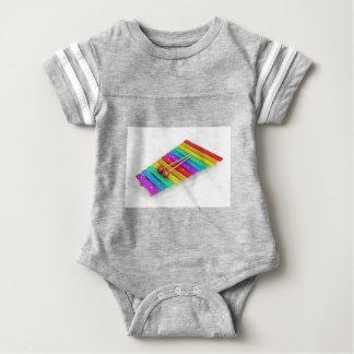 Colorful xylophone baby bodysuit