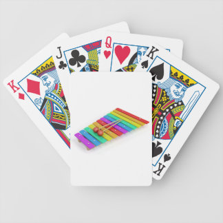 Colorful xylophone bicycle playing cards