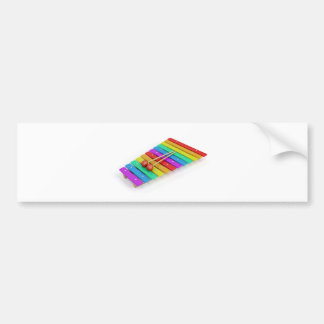 Colorful xylophone bumper sticker