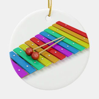 Colorful xylophone ceramic ornament
