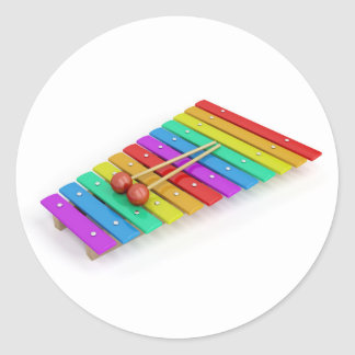 Colorful xylophone classic round sticker
