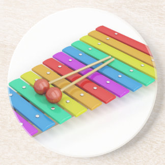 Colorful xylophone coaster