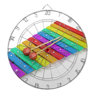 Colorful xylophone dartboard