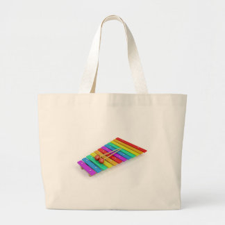Colorful xylophone large tote bag