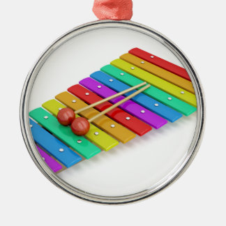 Colorful xylophone metal ornament