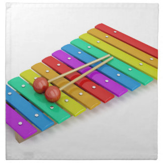 Colorful xylophone napkin