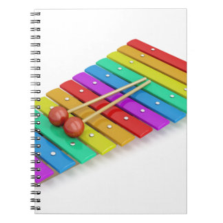Colorful xylophone notebook
