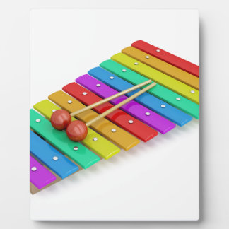 Colorful xylophone plaque