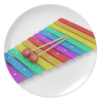 Colorful xylophone plate