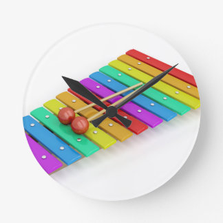 Colorful xylophone round clock