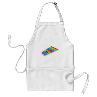 Colorful xylophone standard apron