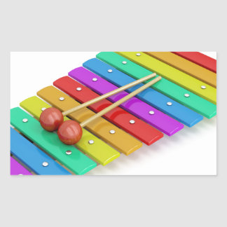 Colorful xylophone sticker