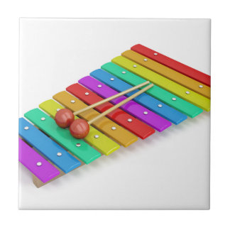 Colorful xylophone tile