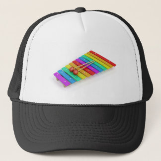 Colorful xylophone trucker hat