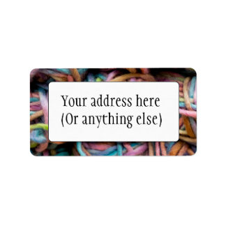 Colorful Yarn Label