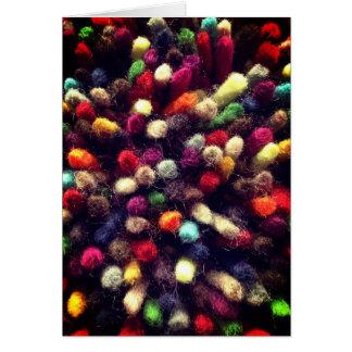 Colorful Yarn Rainbow Wool Card