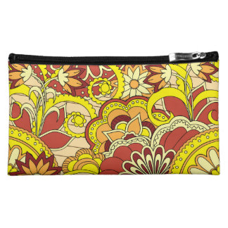 colorful yellow zen pattern with sends them cosmetic bag