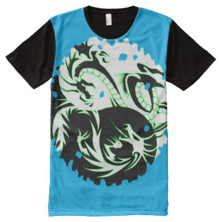 Colorful Yin Yang Dragon