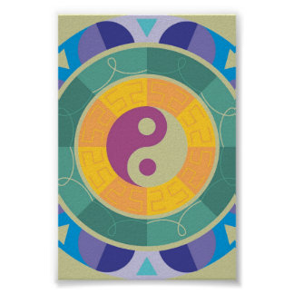 Colorful Yin Yang Pattern Poster