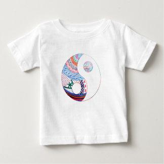 Colorful ying yang,spiritual baby T-Shirt