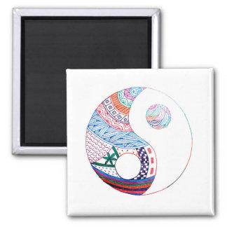 Colorful ying yang,spiritual magnet