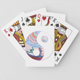 Colorful ying yang,spiritual playing cards