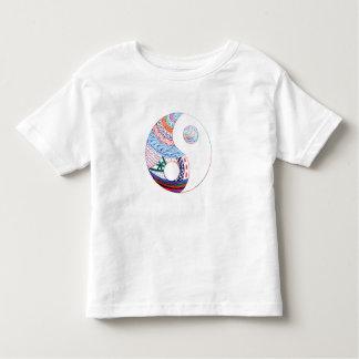 Colorful ying yang,spiritual toddler t-shirt