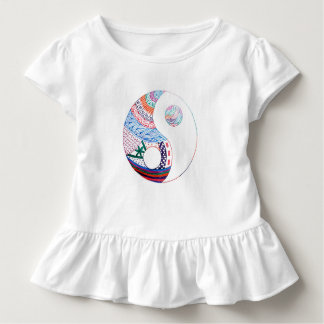 Colorful ying yang,spiritual toddler t-shirt