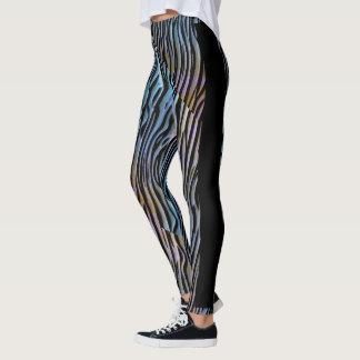 Colorful zebra  design pattern leggingss leggings