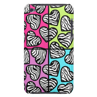 Colorful zebra hearts iPod Touch Case-Mate iPod Touch Covers