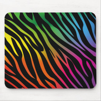 Colorful zebra texture mouse pad